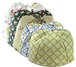 You have lots of tea cosies so you can cover your precious decoration pieces with a tea cosy
